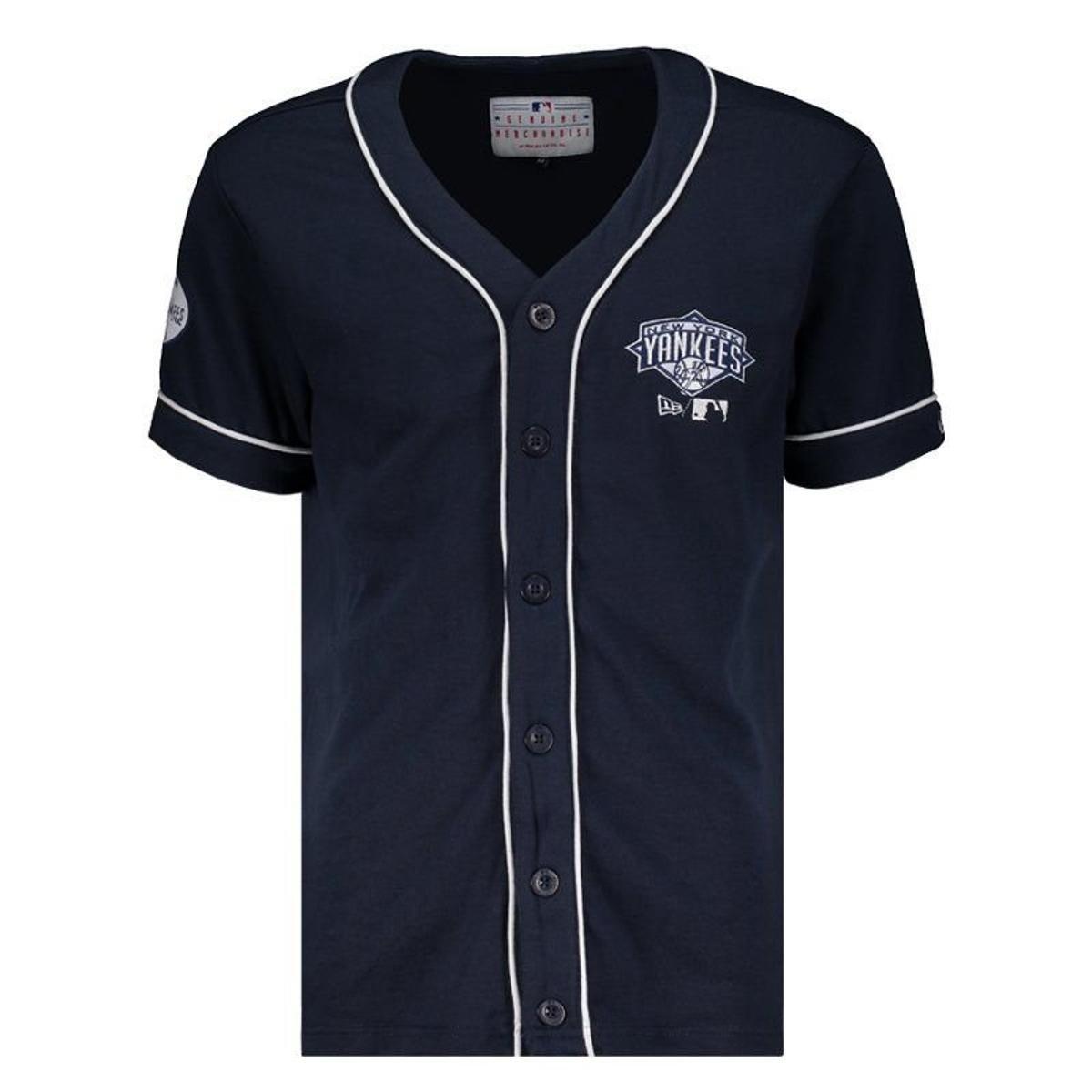 f468e935fecce Camisa New Era MLB New York Yankees Masculina - Marinho - Compre Agora