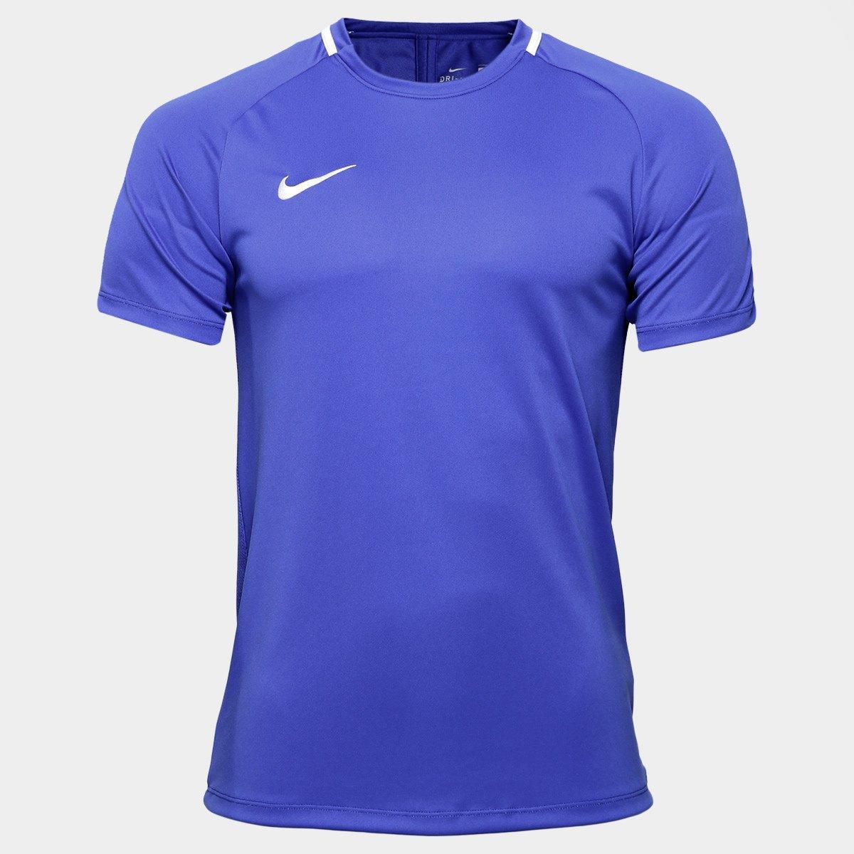 Camisa Nike Academy Masculina - Azul Royal e Branco - Compre Agora ... 3dbd76d2a0f