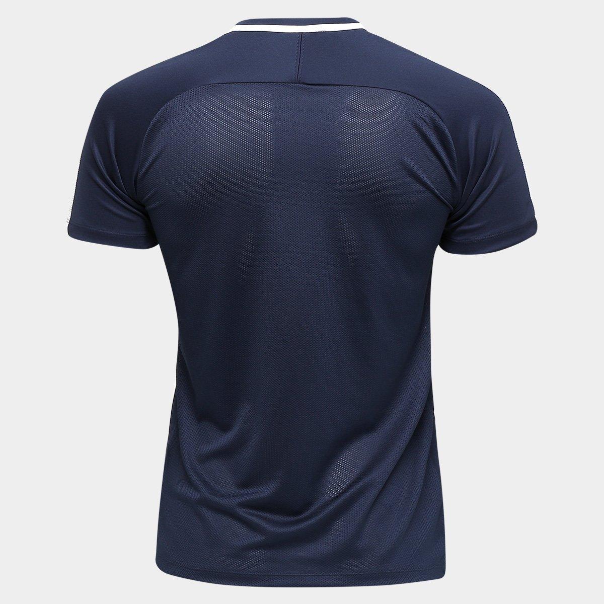 8e09e958e0 Camisa Nike Academy Masculina - Marinho e Branco - Compre Agora ...