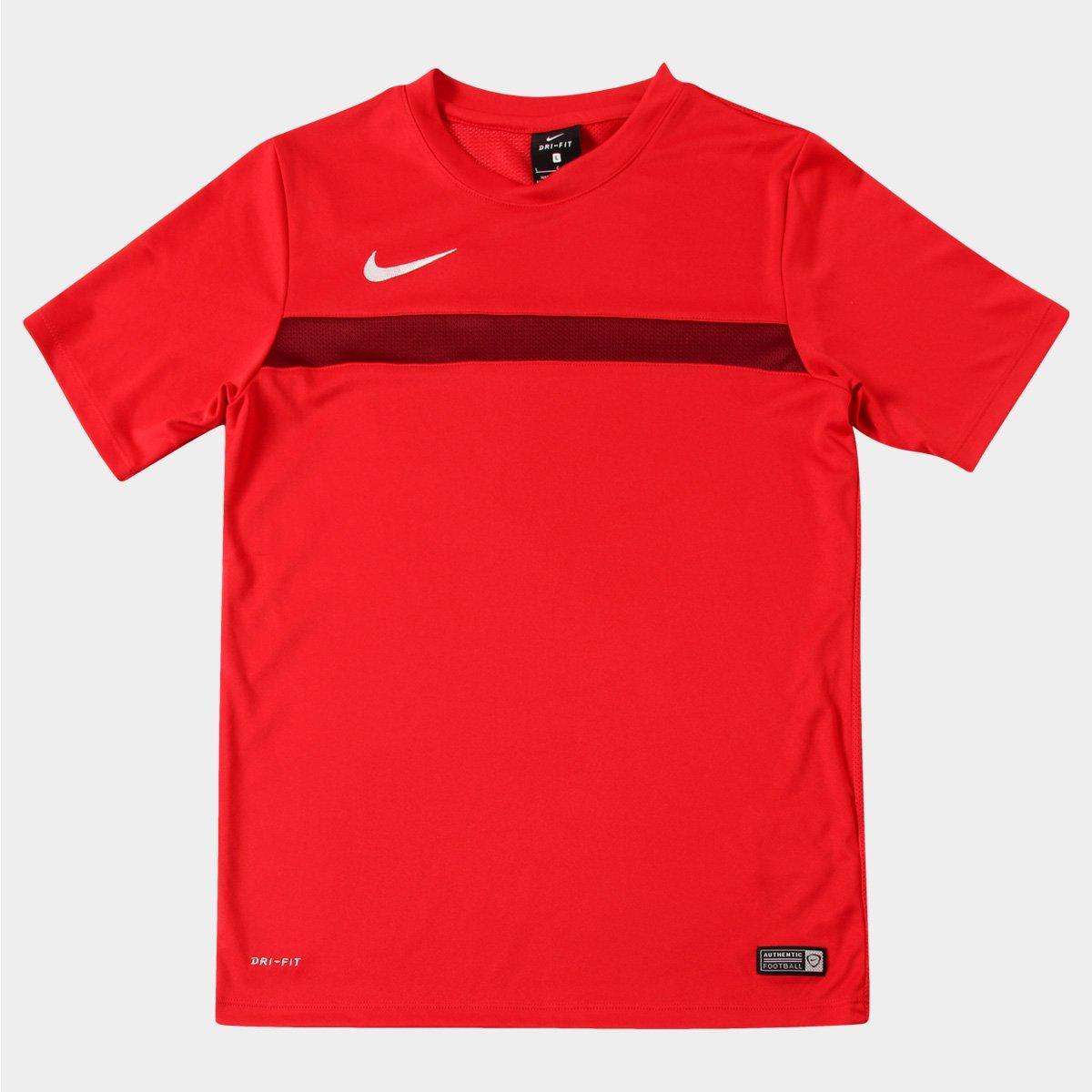 2d5f86ede0 Camisa Nike Academy Training Infantil - Vermelho+Branco