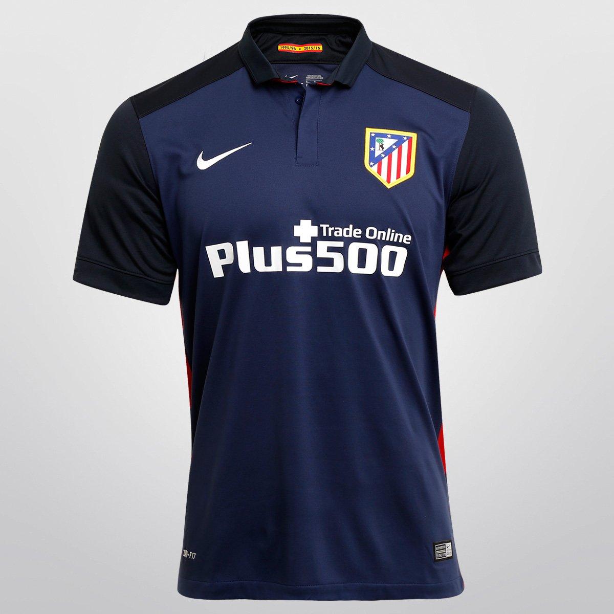 25a21bd3a0 Camisa Nike Atlético de Madrid Away 15 16 s nº - Compre Agora