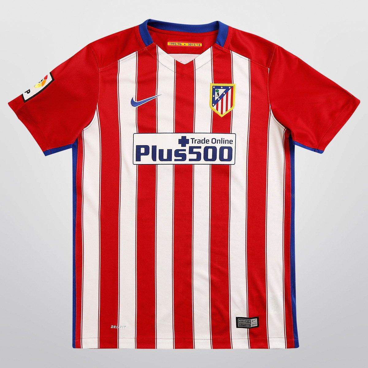 Camisa Nike Atlético de Madrid Home 15 16 s nº Infantil - Compre Agora  6c325566a96c8