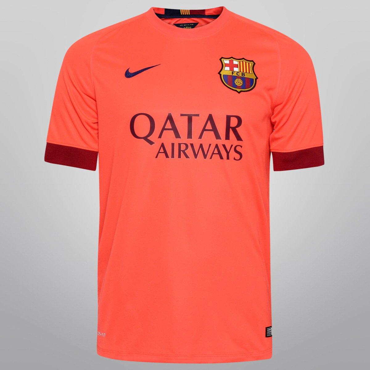 Camisa Nike Barcelona Away 14 15 s nº - Compre Agora  515315e765d7a