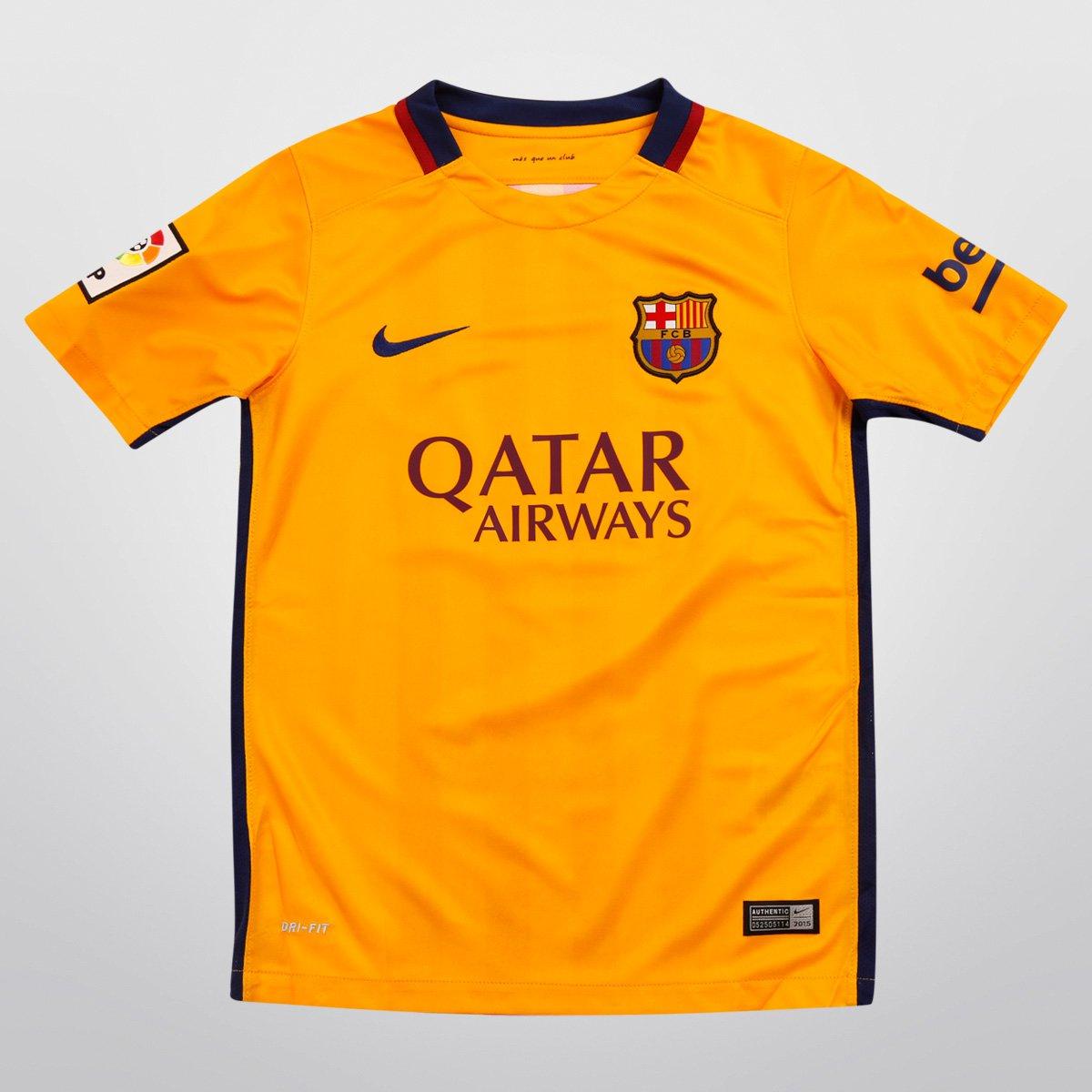 Camisa Nike Barcelona Away 15 16 s nº Infantil - Compre Agora  47d30707be7a4