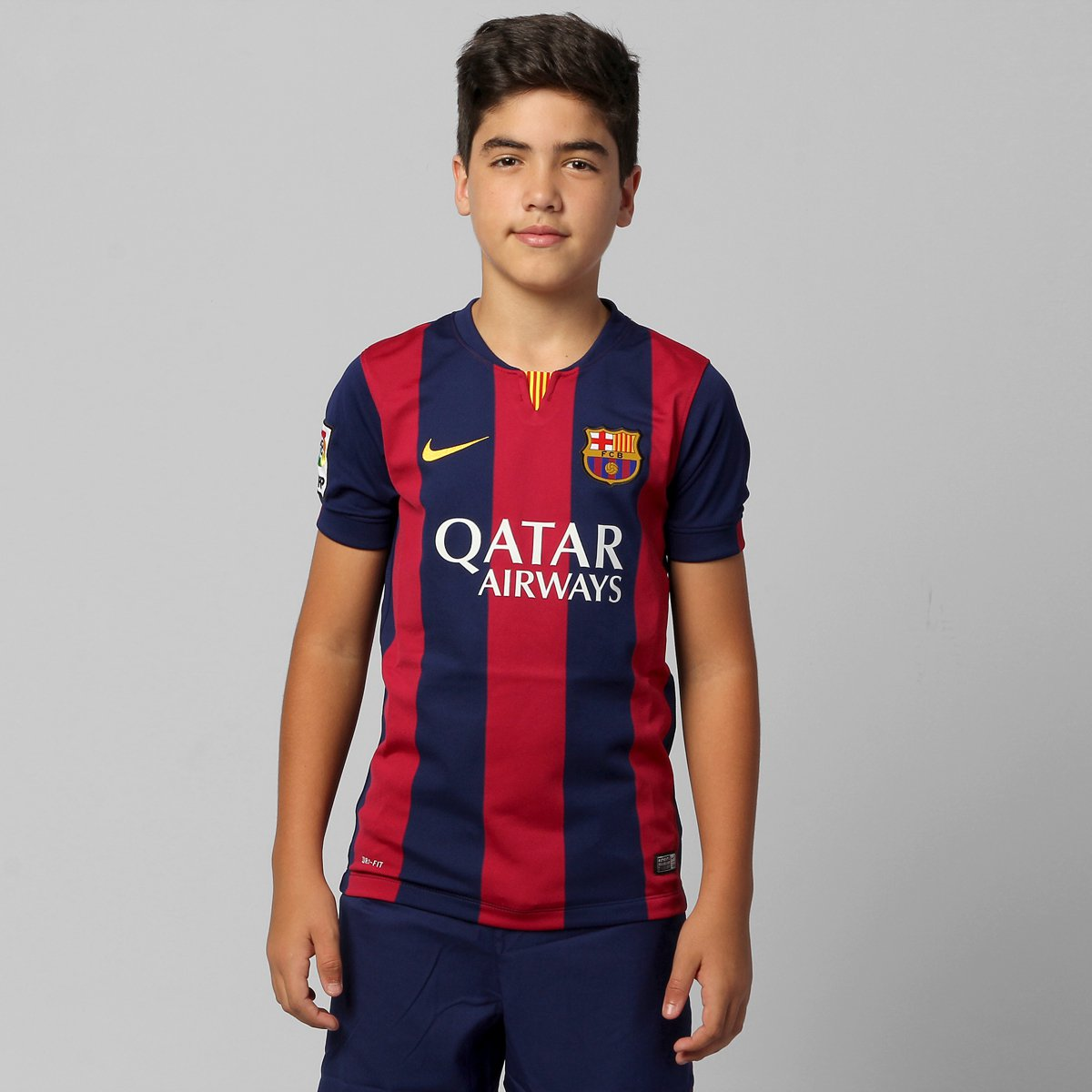 Camisa Nike Barcelona Home 14 15 s nº Infantil - Compre Agora  d4b7ce4ed36