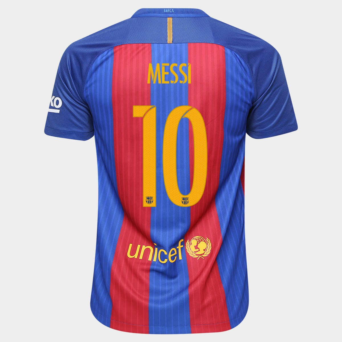 Camisa Nike Barcelona Home 16 17 Nº 10 - Messi - Compre Agora  8a61abf627f59