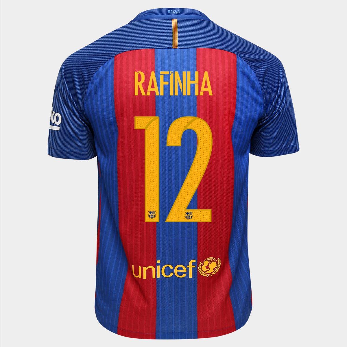 d24597bded Camisa Nike Barcelona Home 16 17 Nº 12 - Rafinha - Compre Agora ...