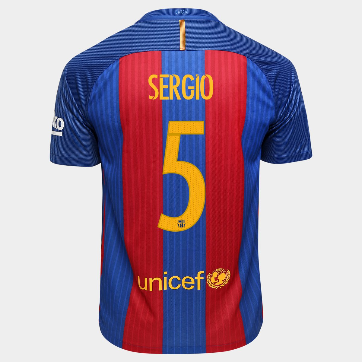 Camisa Nike Barcelona Home 16 17 Nº 5 - Sergio - Compre Agora   Netshoes 691ac70acb