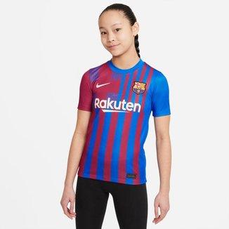 Camisa Nike Barcelona I 2021/22 Torcedor Pro Infantil