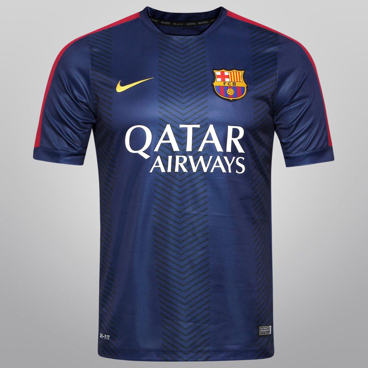 Camisa Nike Barcelona Pre Match 14 15 - Compre Agora  09da8d39d6f98