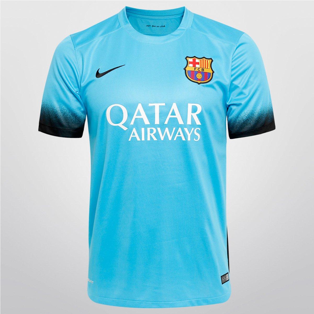 Camisa Nike Barcelona Third 15 16 s nº - Compre Agora  75114c54ec4
