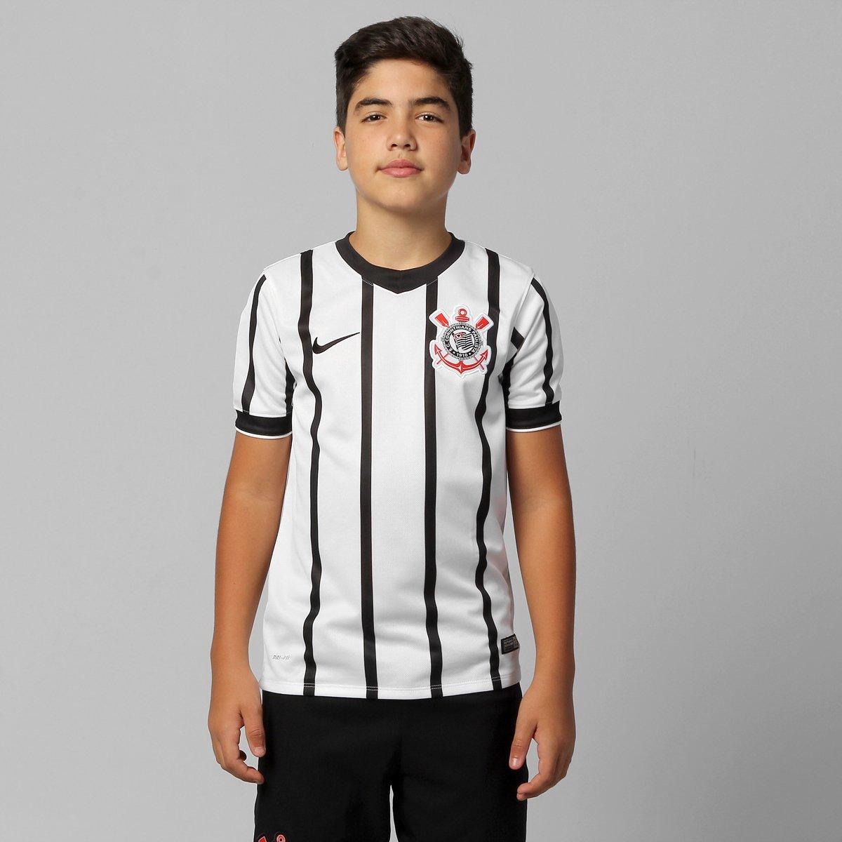 2f3ec015548ef Camisa Nike Corinthians I 14 15 s nº Juvenil - Compre Agora