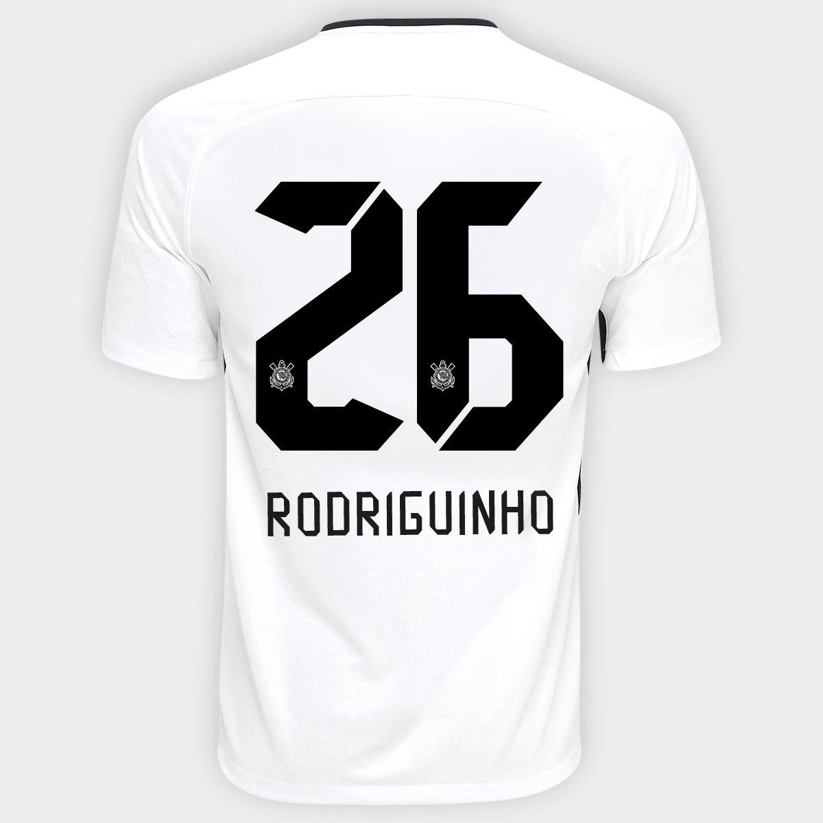 Camisa Nike Corinthians I 17 18 nº 26 - Rodriguinho - Compre Agora ... 898d156f07495