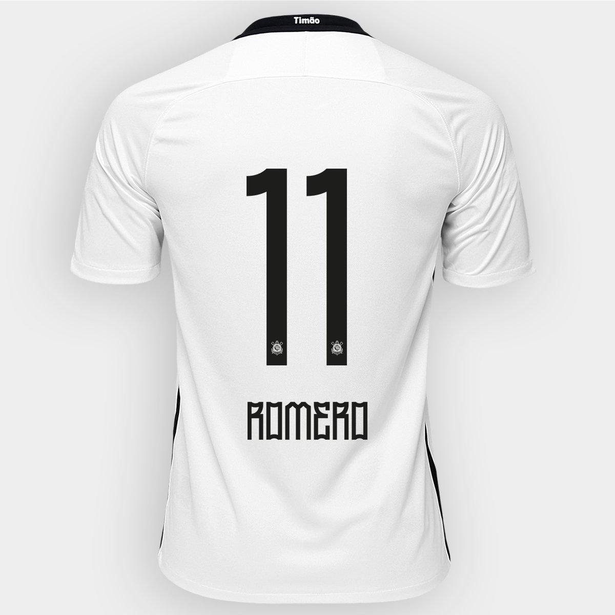 Camisa Nike Corinthians I 2016 nº 11 - Romero - Compre Agora  79870cf521f5c