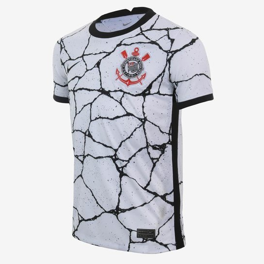 Camisa Nike Corinthians I 2021/22 Torcedor Infantil - Branco