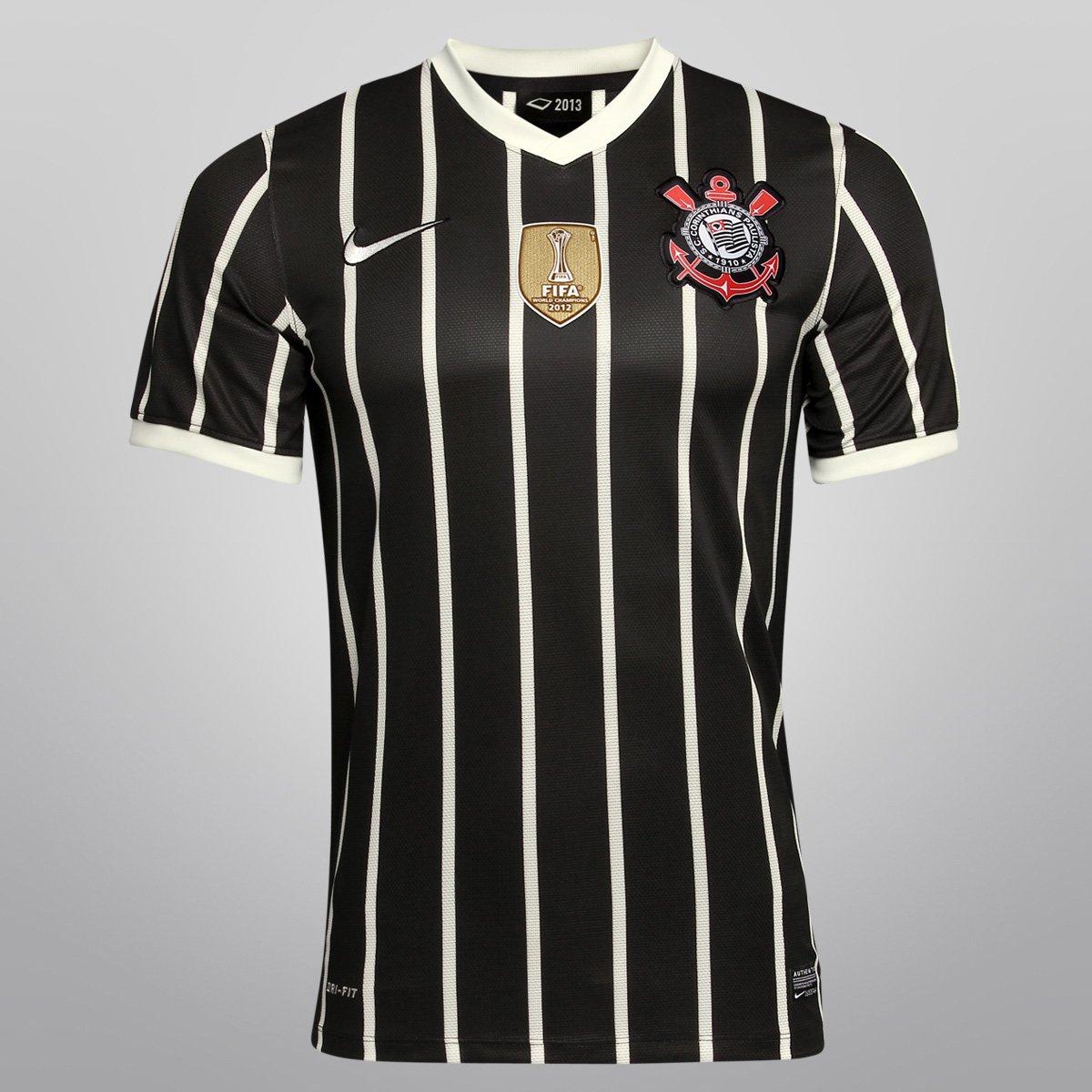 Camisa Nike Corinthians II 2013 s nº - Ed. Bicampeão Mundial - Compre Agora   7448cabf79957