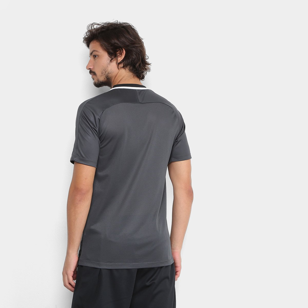 Camisa Nike Dry Academy Top SS GX Masculina - Preto e Branco ... 7ed65dc7d48ef
