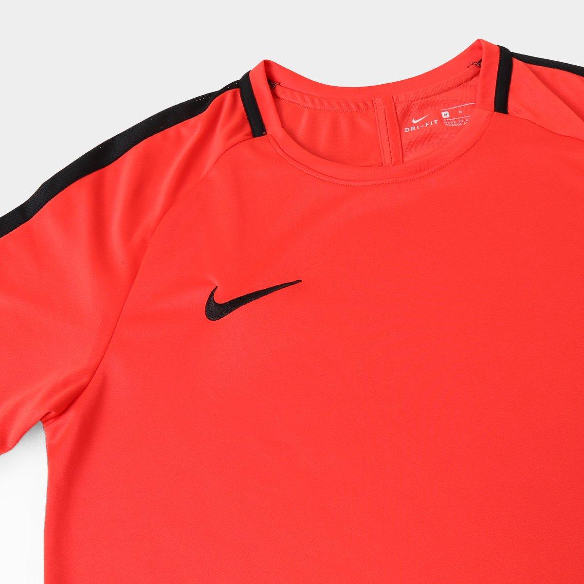 Camisa Nike Dry Academy Top SS Masculina - Vermelho - Compre Agora ... 26384097fdf92