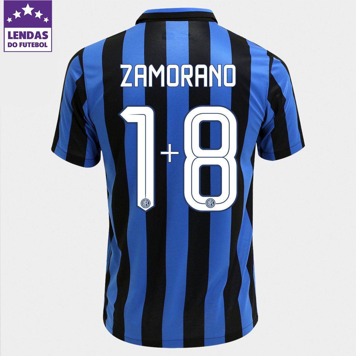 05cc374a8b Camisa Nike Inter de Milão Home 15 16 nº 1+8 - Zamorano - Compre Agora