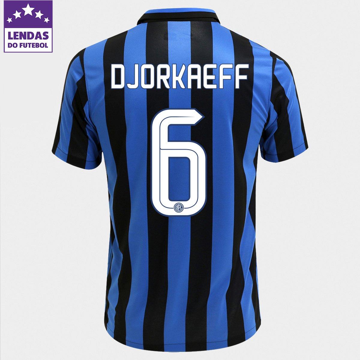 088ac7c9d2 Camisa Nike Inter de Milão Home 15 16 nº 6 - Djorkaeff - Compre Agora