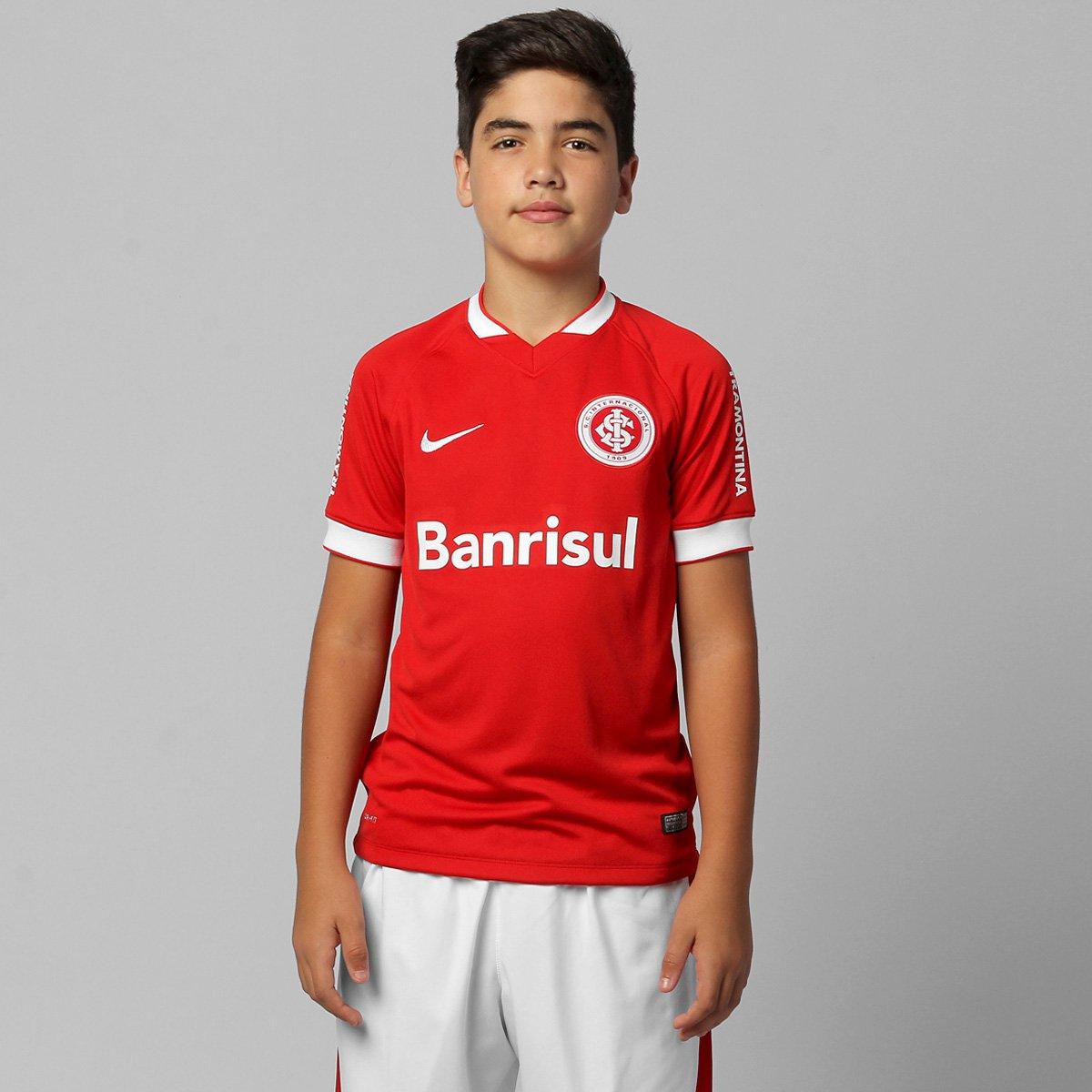 Camisa Nike Internacional I 14 15 s nº Juvenil - Compre Agora  475682490bcdf