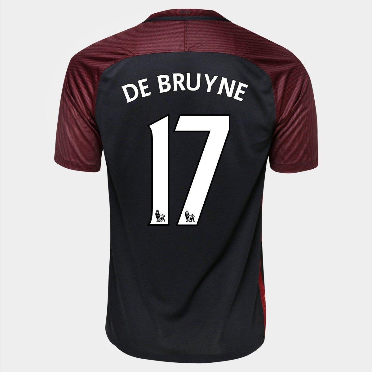 Camisa Nike Manchester City Away 16 17 n° 17 - De Bruyne - Compre Agora  7627a41ee33