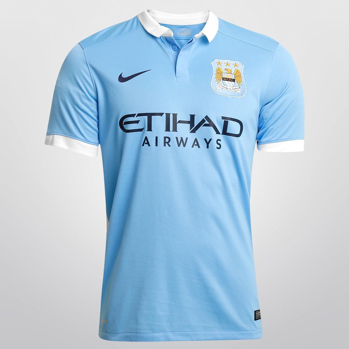 75ac10e4acf9f Camisa Nike Manchester City Home 15/16 s/nº | Netshoes