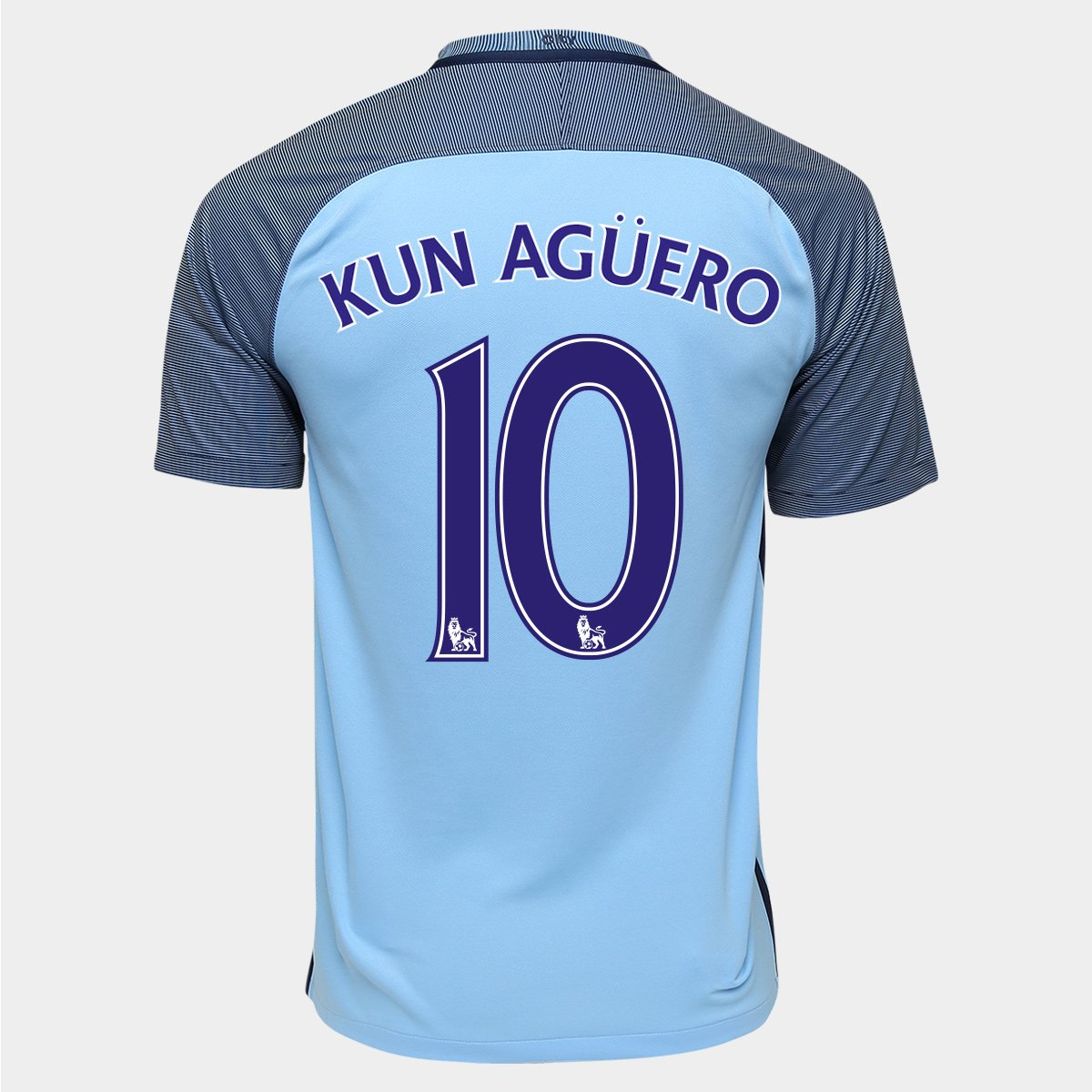 0a7bbb2d31 Camisa Nike Manchester City Home 16 17 n° 10 - Kun Agüero - Compre Agora