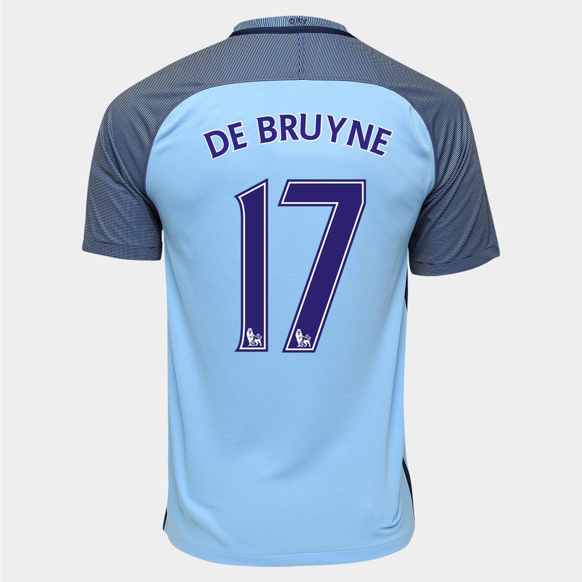 cd6cf72a65 Camisa Nike Manchester City Home 16 17 n° 17 - De Bruyne - Compre Agora
