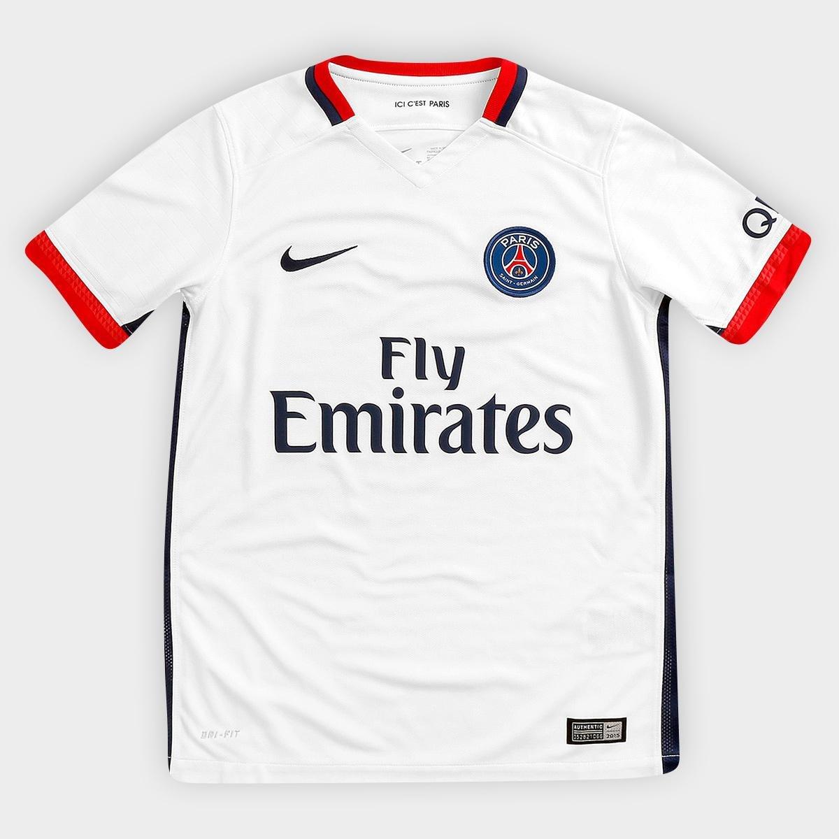 Camisa Nike Paris Saint Germain Away 15 16 s nº Infantil - Compre Agora  6d7f70424b660
