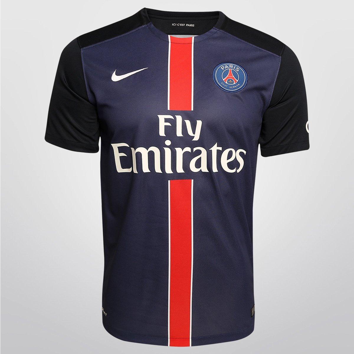 Camisa Nike Paris Saint-Germain Home 15 16 s nº - Compre Agora ... bc3f4957e31b5