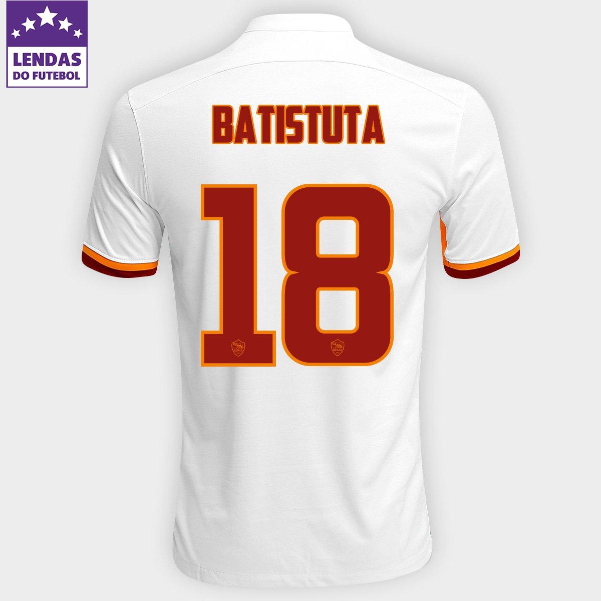 Camisa Nike Roma Away 15 16 nº 18 - Batistuta - Compre Agora  fa72bdcfe76d2