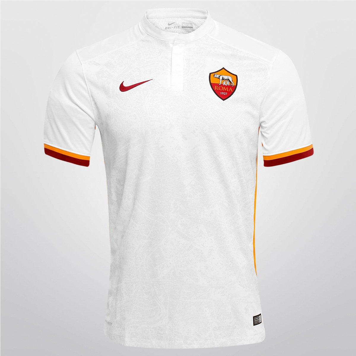 Camisa Nike Roma Away 15 16 s nº - Compre Agora  8c3b0dcf302ec