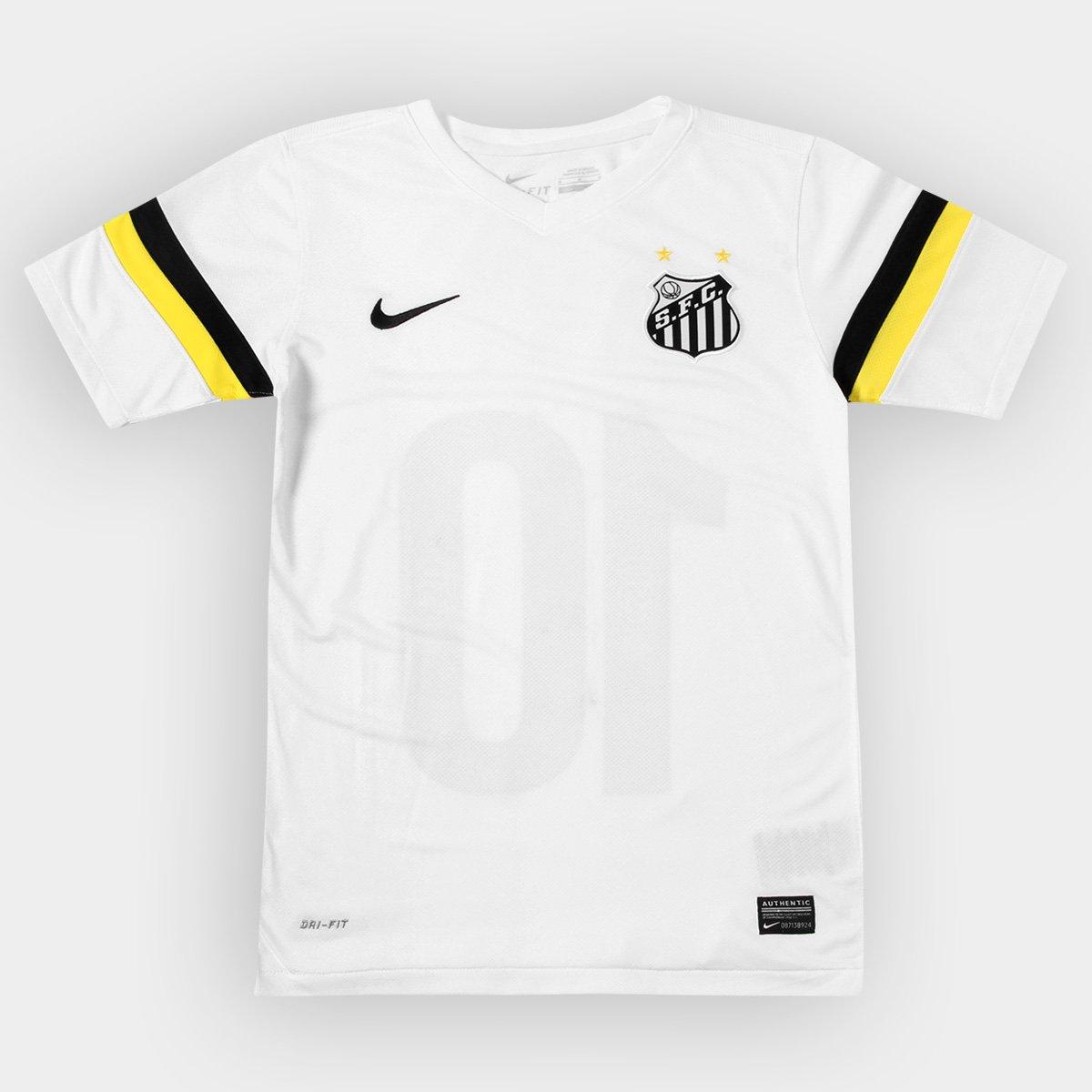 Camisa Nike Santos I 13 14 s nº Juvenil - Compre Agora  171cad2dc96e3