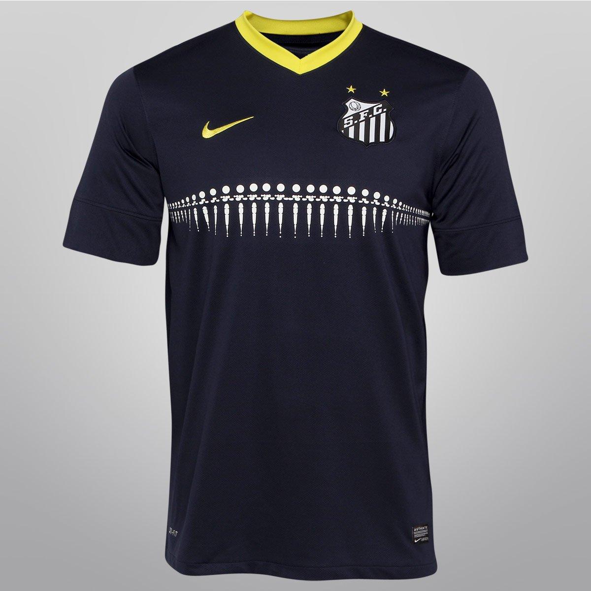 33d40d56ea Camisa Amarela Do Santos 2014 Nike Mantos Do Futebol