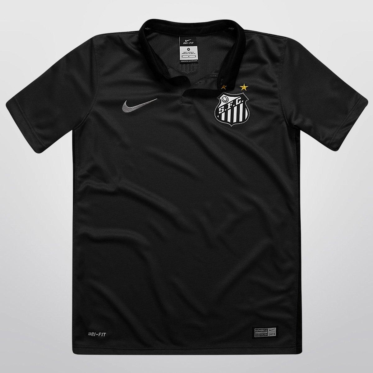 Camisa Nike Santos III 2015 s nº Infantil - Compre Agora  7611aff3a1d06