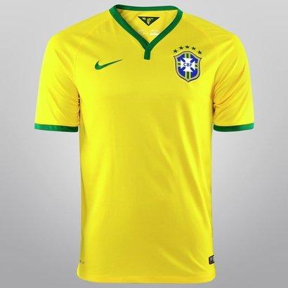 c7458071c Camisa Nike Seleção Brasil I 14 15 s nº - Torcedor - Compre Agora ...