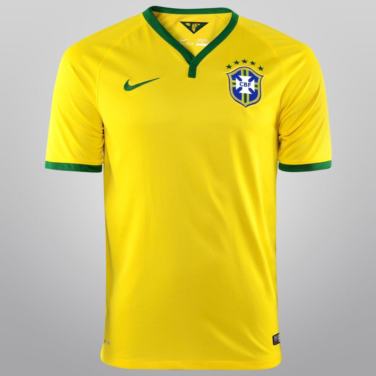 f8f7dfbe2e Camisa Nike Seleção Brasil I 14 15 s nº - Torcedor - Compre Agora ...