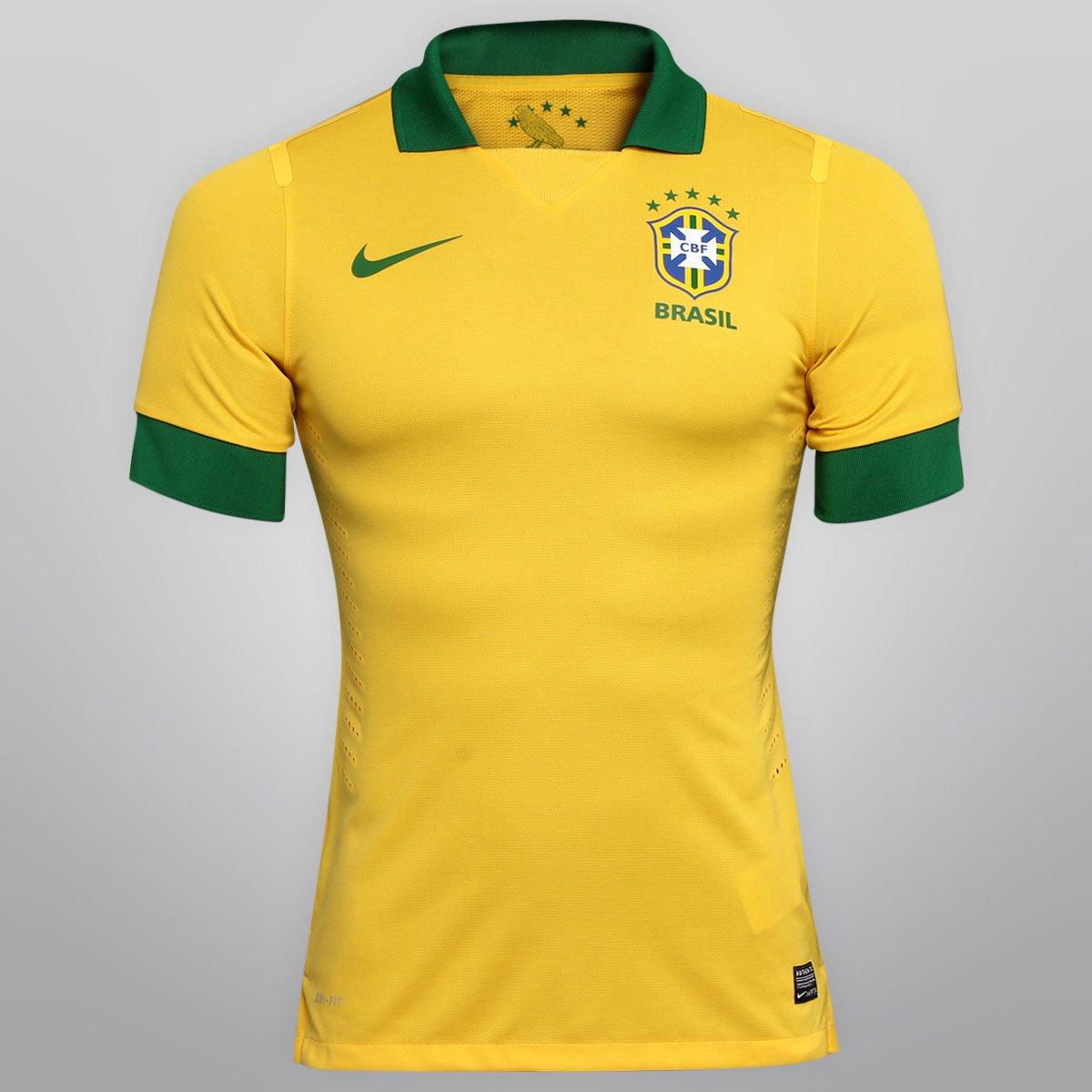 17818ea672 Camisa Nike Seleção Brasil I 2013 s nº - Jogador - Compre Agora ...