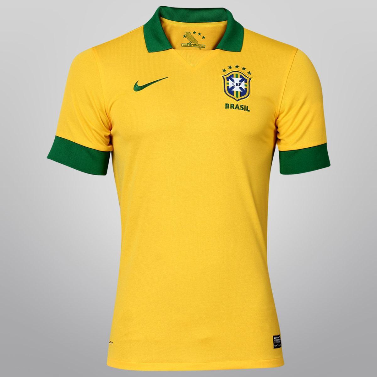 Camisa Nike Seleção Brasil I 2013 s nº - Compre Agora  5d5e2b8c91437
