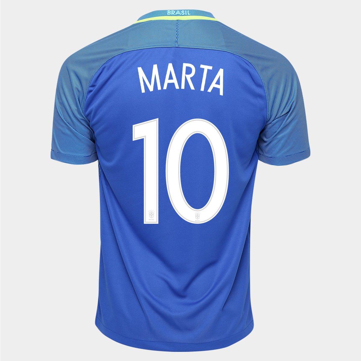 78399567ee687 Camisa Nike Seleção Brasil II 2016 nº 10 - Marta - Compre Agora ...