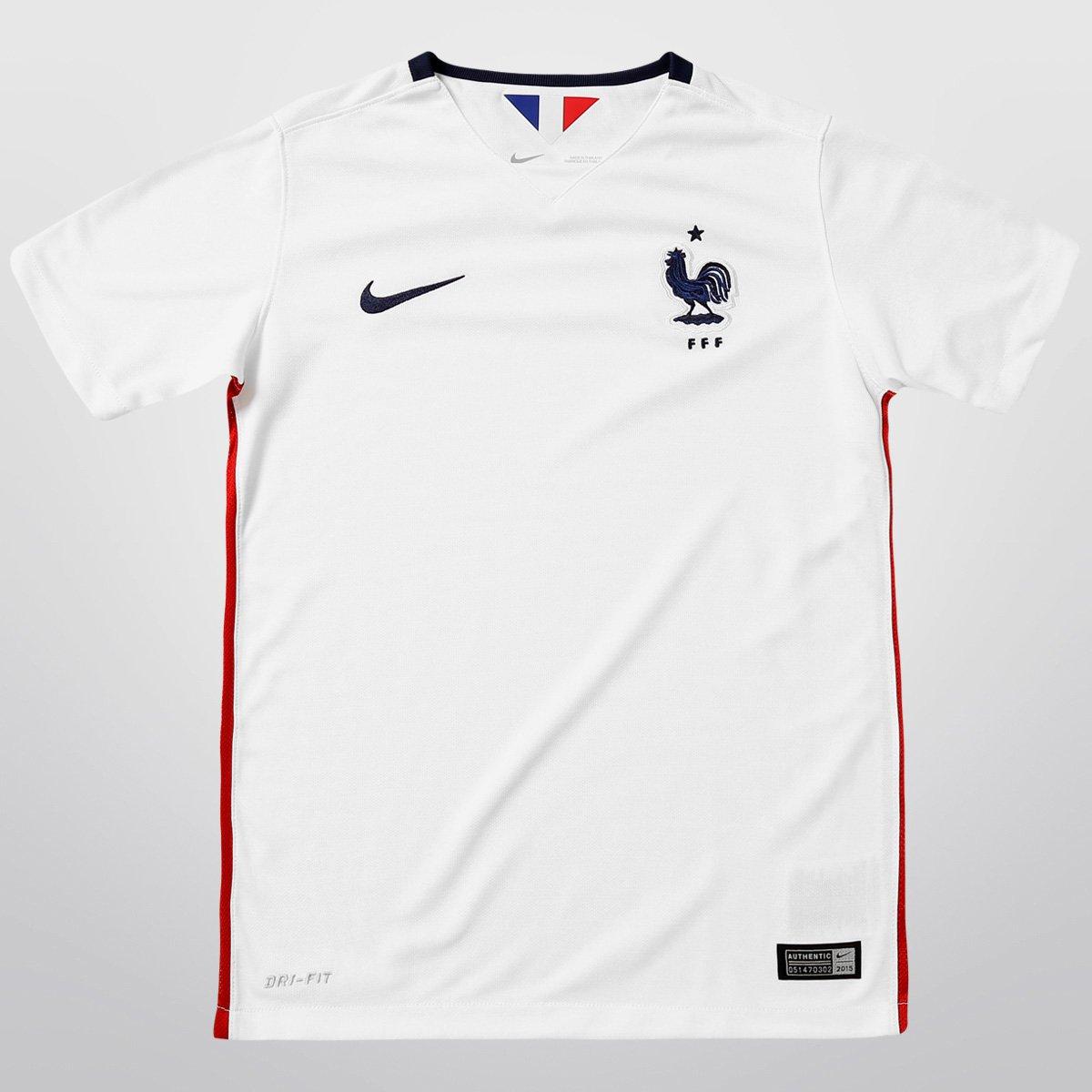 d9c8d65f84 Camisa Nike Seleção França Away 15 16 s nº Infantil - Compre Agora ...