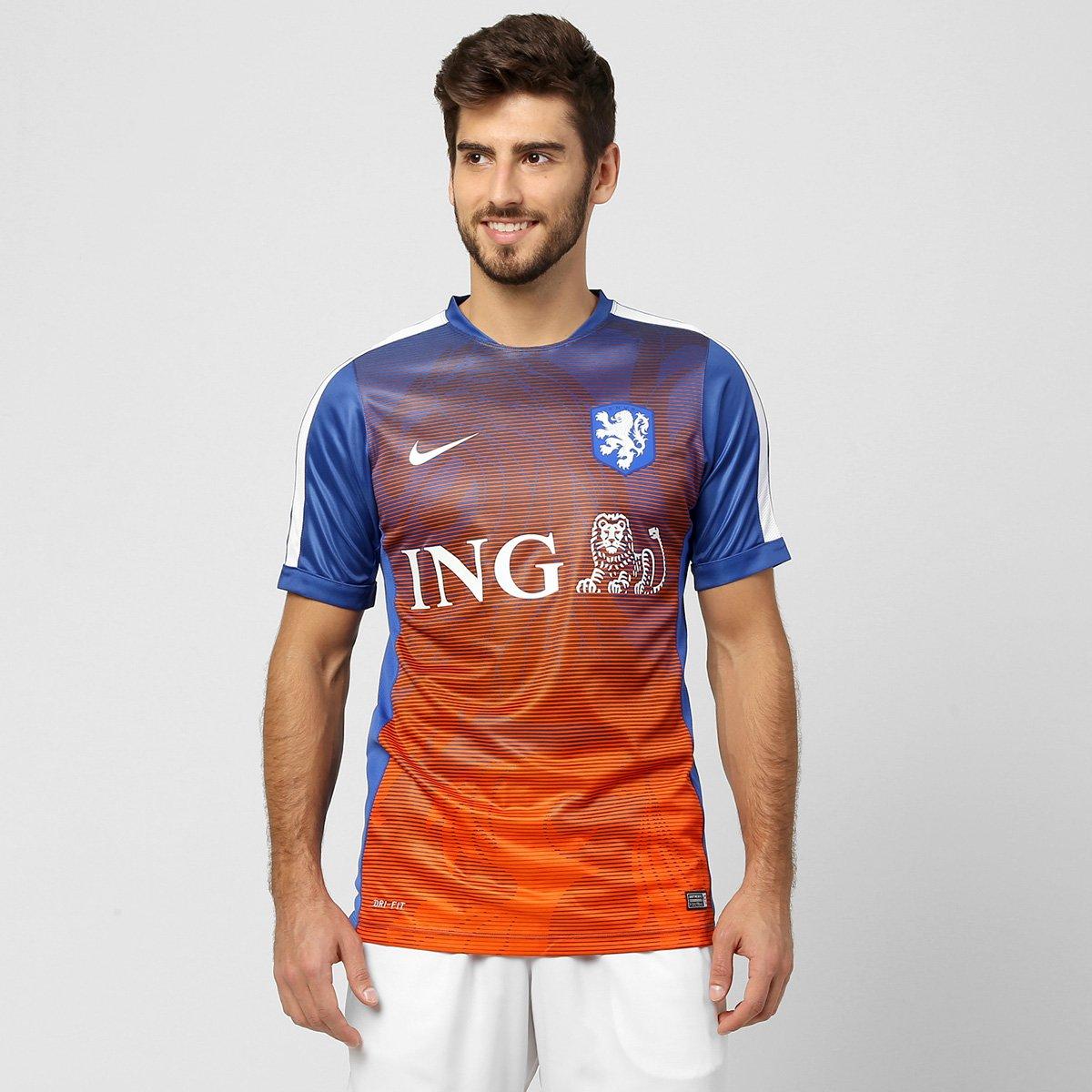 9e2499bc843fb Camisa Nike Seleção Holanda Pre Match 2015 - Compre Agora