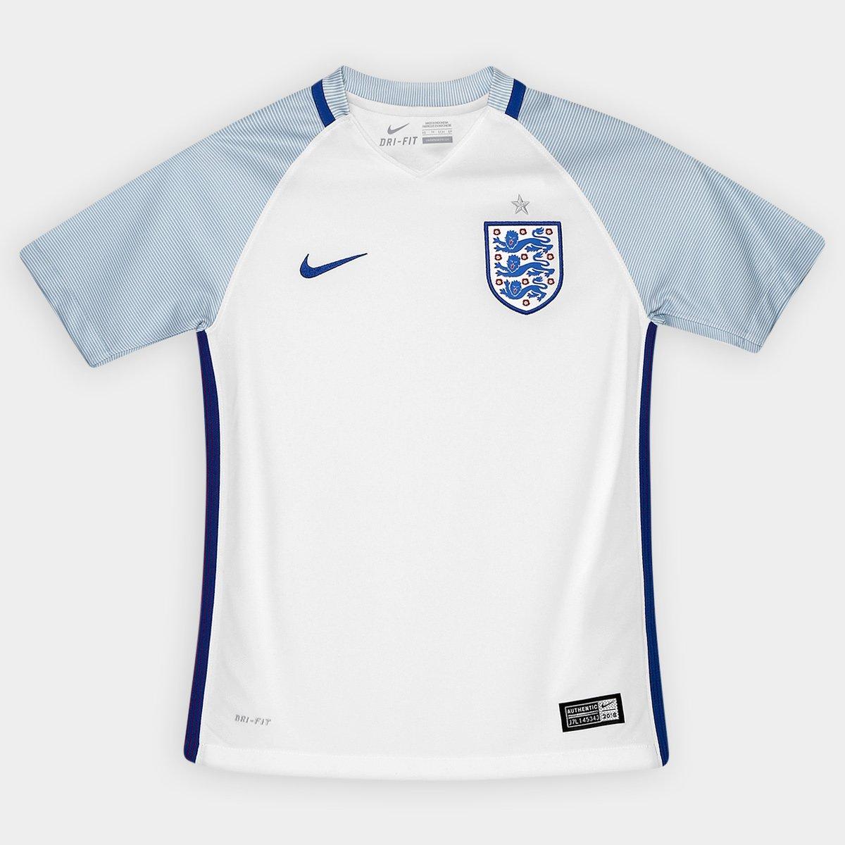 ffba18d379 Camisa Nike Seleção Inglaterra Home 2016 s nº Infantil - Compre Agora