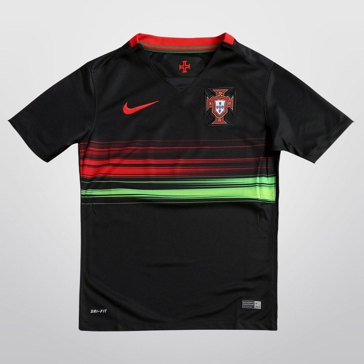 Camisa Nike Seleção Portugal Away 15 16 s nº Infantil - Compre Agora ... de689b8579431