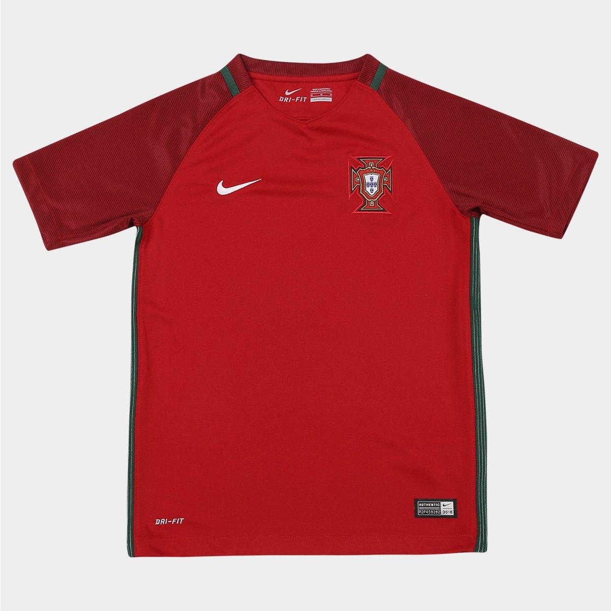 6668c3c715 Camisa Nike Seleção Portugal Home 2016 s nº Infantil - Compre Agora ...