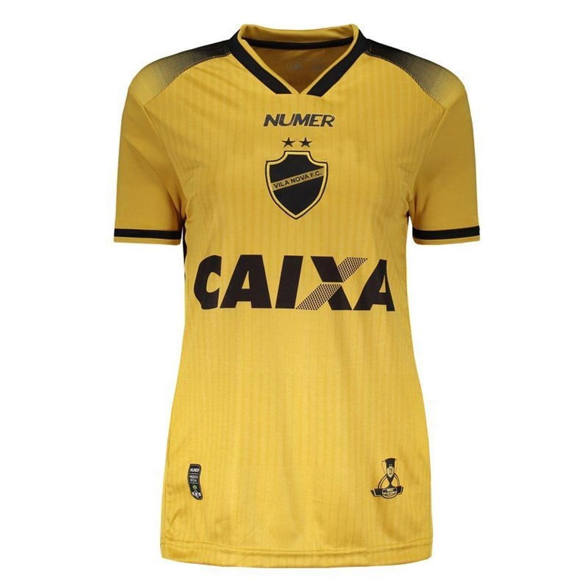 Camisa Numer Vila Nova III 2018 Feminina - Amarelo - Compre Agora ... 7e28a656fdf