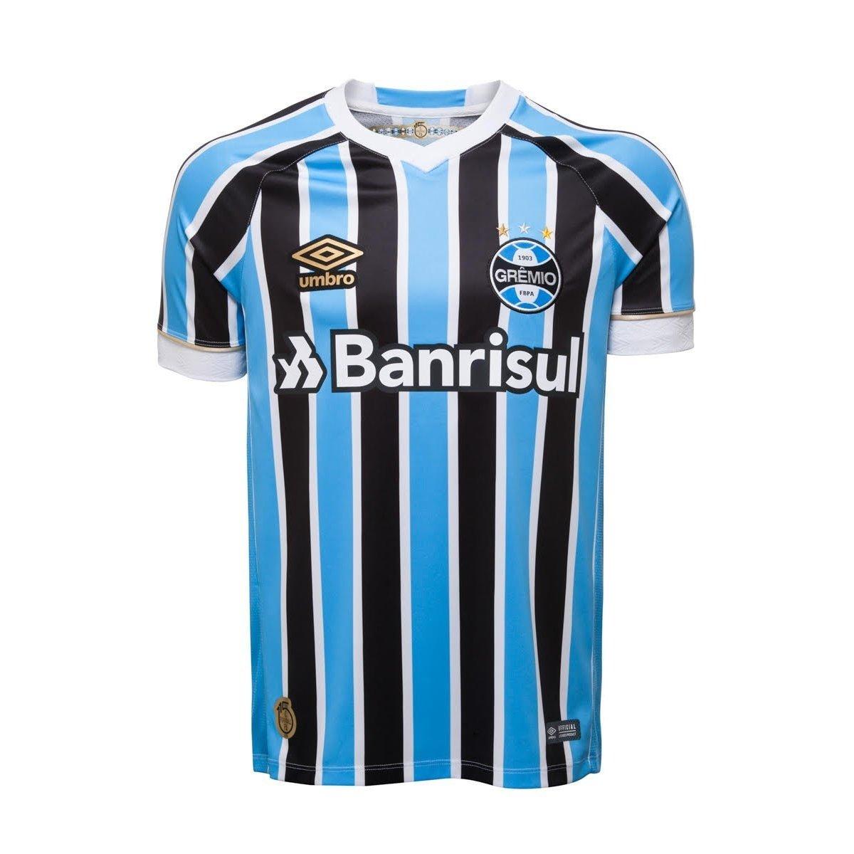 8d994824e8119 Camisa Oficial Masculina Umbro Grêmio OF 1 2018 - Compre Agora ...