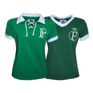 Camisa Palmeiras 1951 Liga Retrô Feminina  Verde GG Camisa Palmeiras 1914/15 Liga Retrô Feminina
