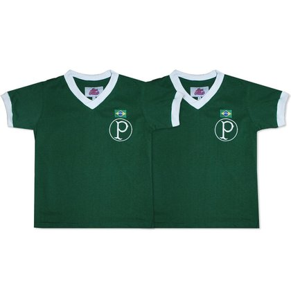 Camisa Palmeiras 1951 Liga Retrô Infantil  Verde 12
